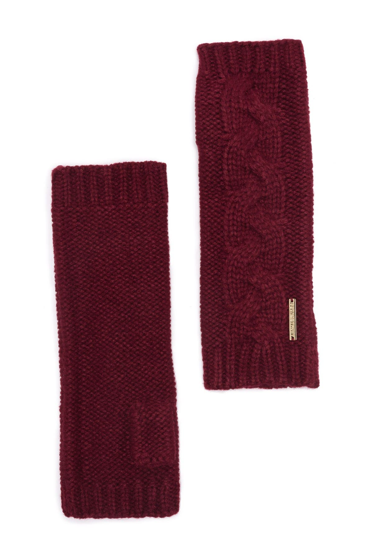 Image of Michael Kors Patchwork Cable Knit Arm Warmer