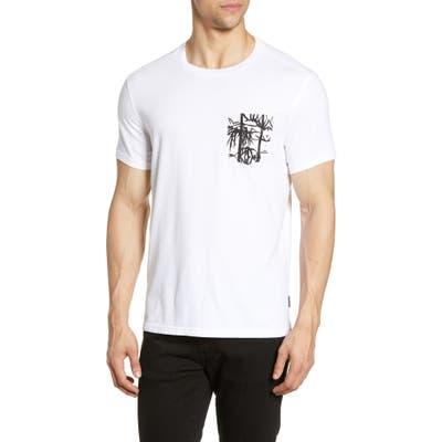 John Varvatos Star Usa Bayfront Print Pocket T-Shirt, White