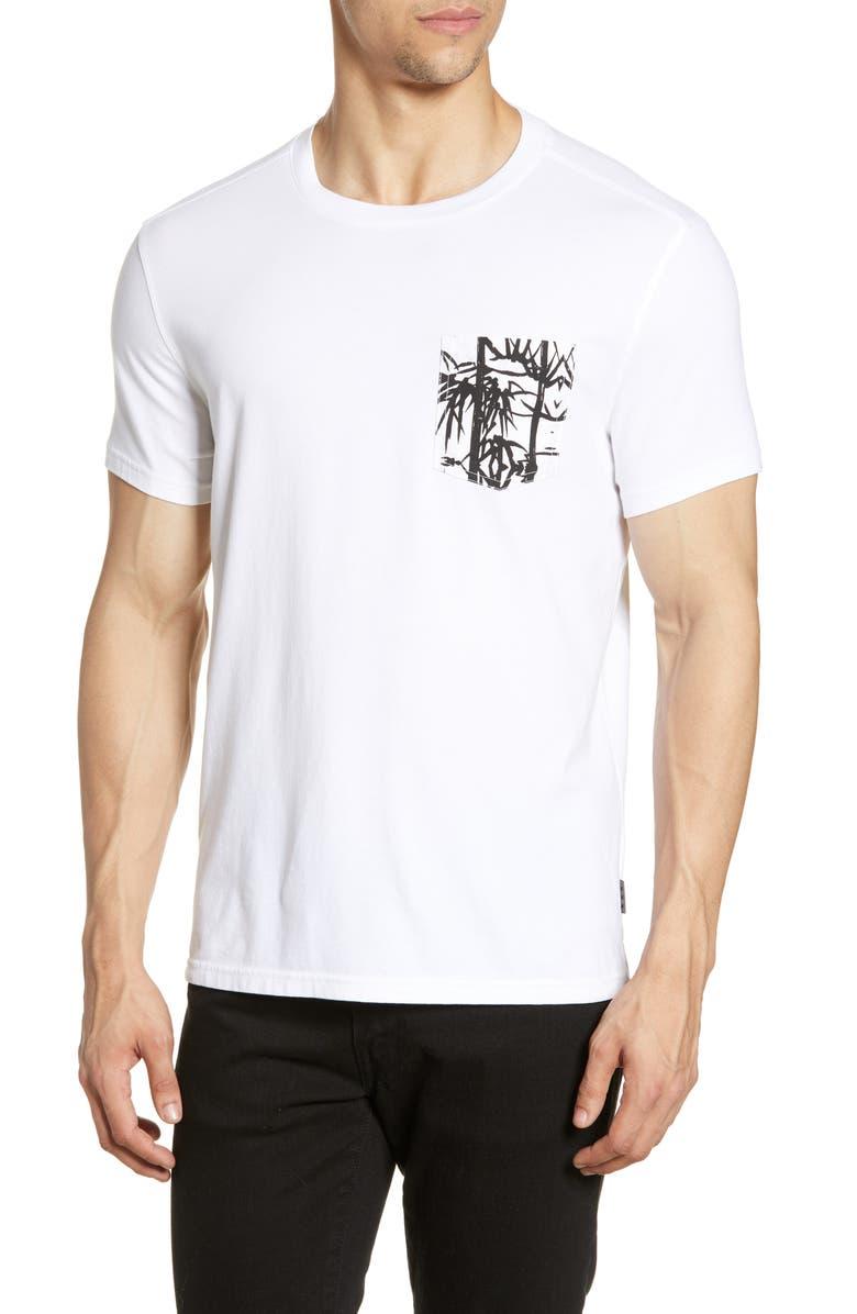 JOHN VARVATOS STAR USA Bayfront Print Pocket T-Shirt, Main, color, 100