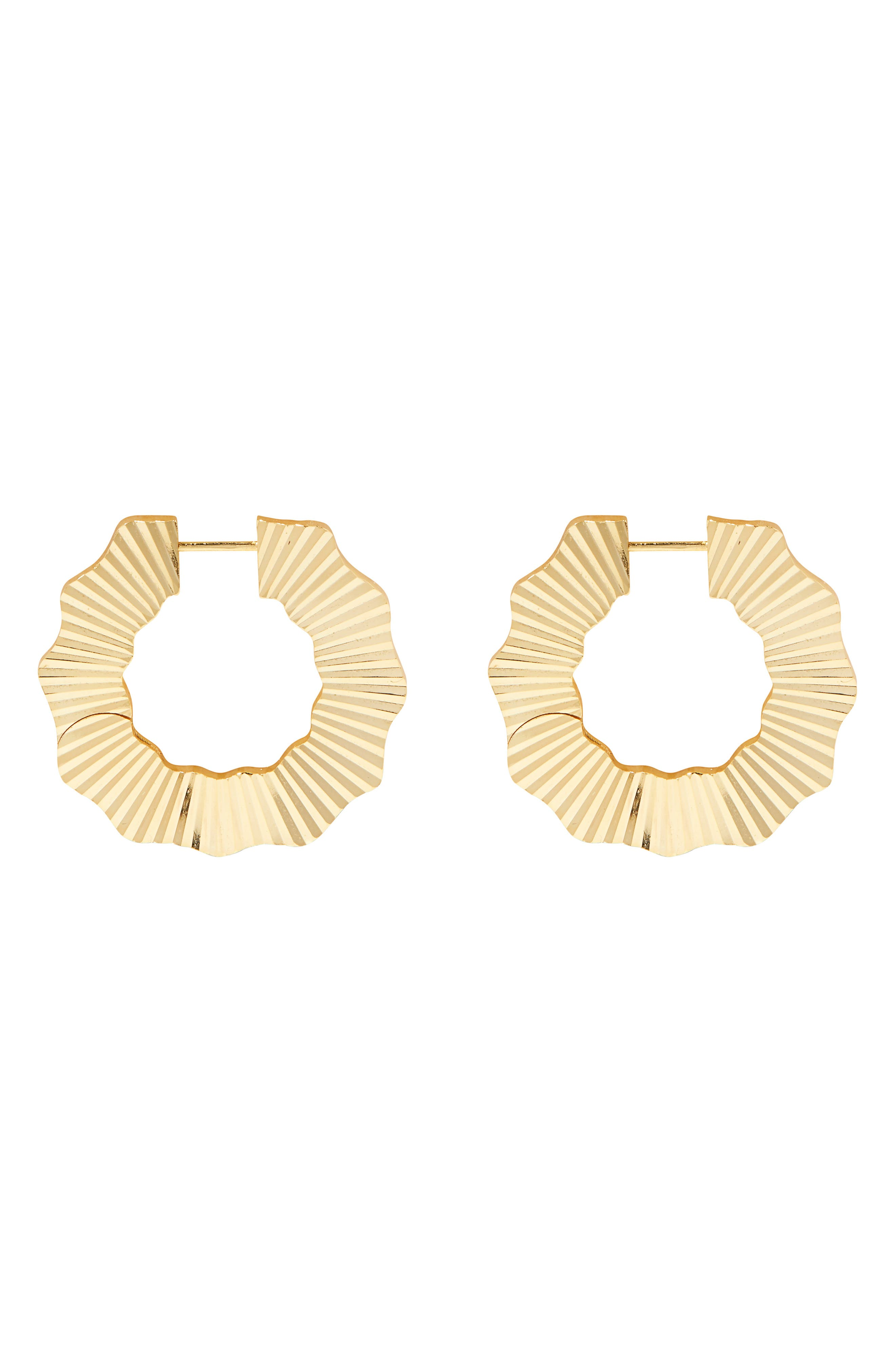 Alica Huggie Hoop Earrings
