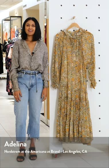 Feeling Groovy Long Sleeve Midi Dress, sales video thumbnail