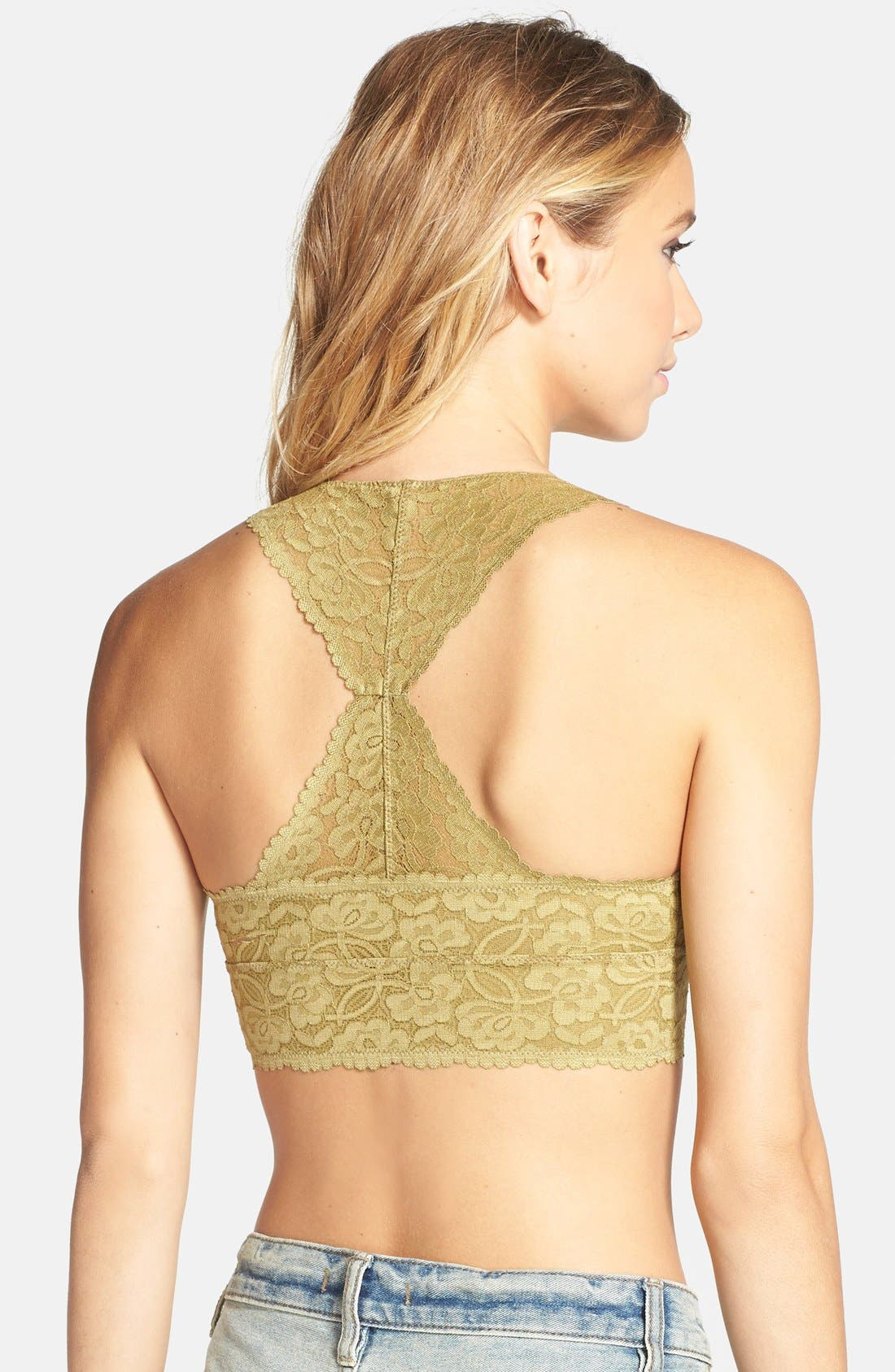 ,                             Racerback Galloon Lace Bralette,                             Alternate thumbnail 41, color,                             374