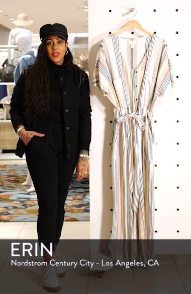 Tie Waist Linen Blend Jumpsuit, sales video thumbnail