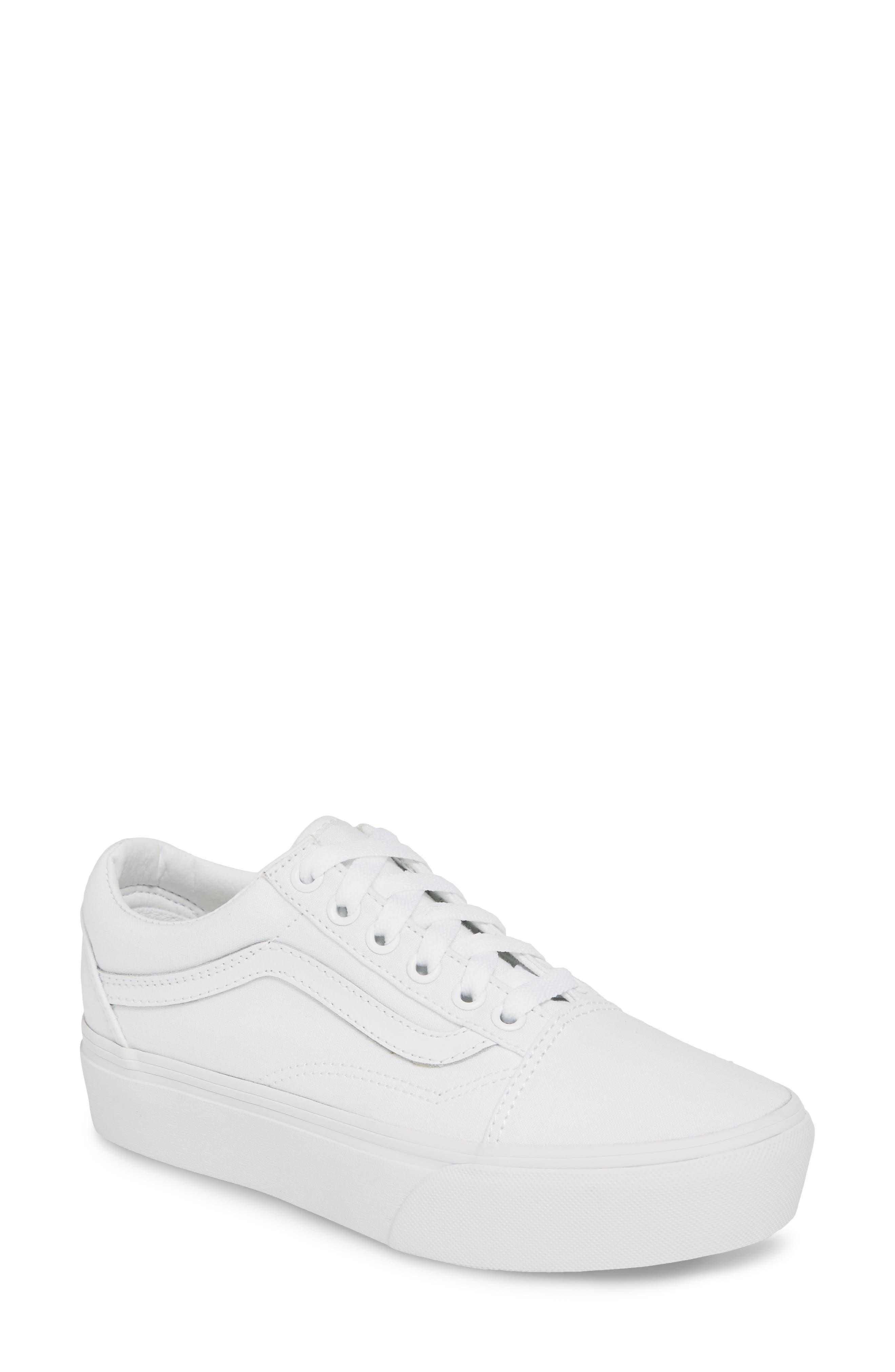 Vans Old Skool Platform Sneaker, White