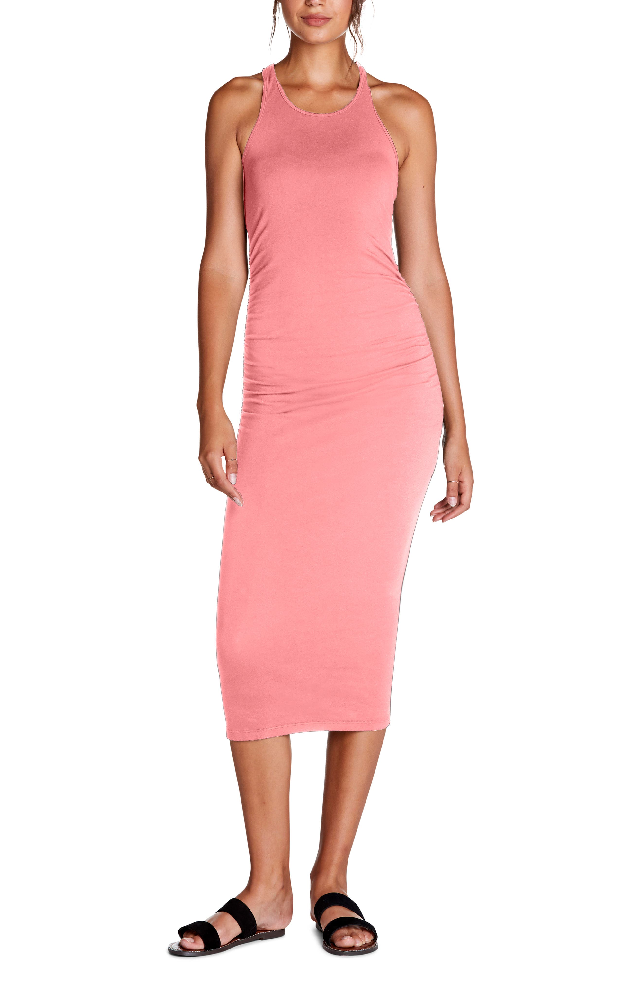 Michael Stars Racerback Midi Dress, Pink