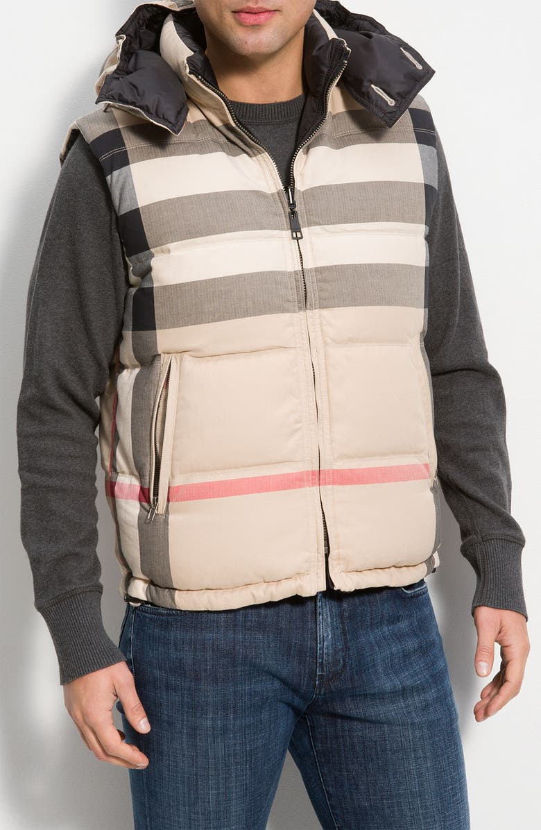 Burberry Reversible Channel Quilted Down Vest Nordstrom
