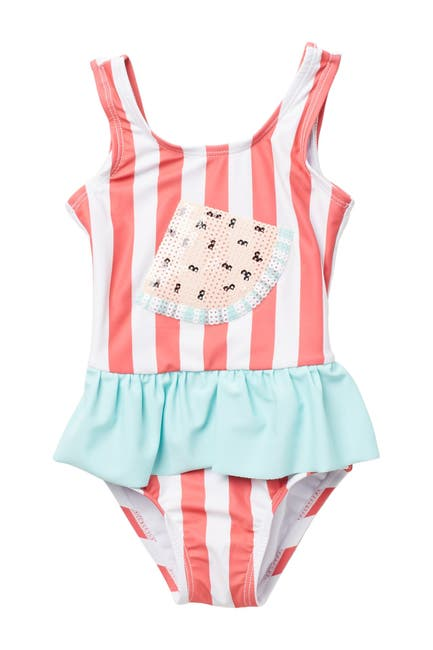 Image of koala baby Sequin Watermelon Skirted One-Piece Swimsuit