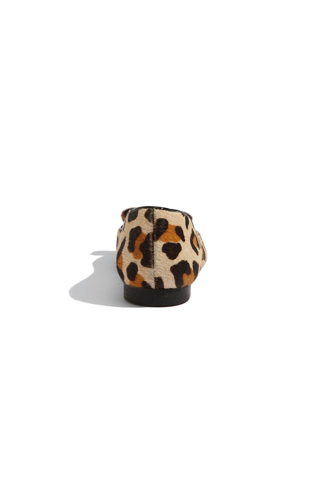 ,                             'elise' leopard print calf hair flat,                             Alternate thumbnail 16, color,                             960