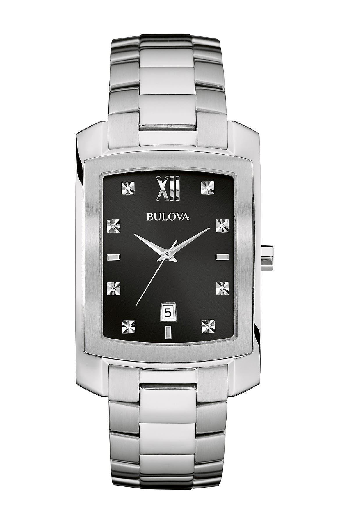 Image of Bulova Men's Quartz Diamond Bracelet Watch, 31mm - 0.04 ctw