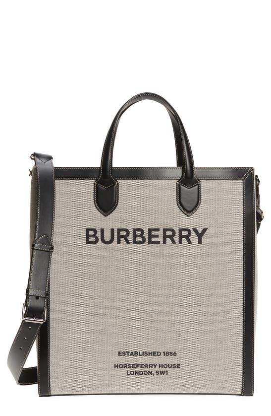 Burberry Leathers MEDIUM KANE HORSEFERRY LOGO CANVAS TOTE