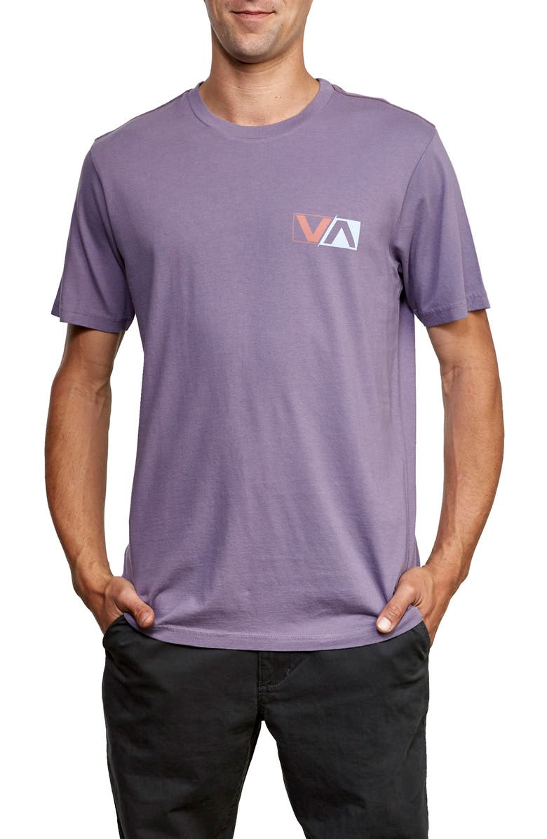 RVCA Lateral Graphic T-Shirt, Main, color, PURPLE JADE
