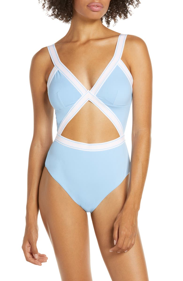 DOLCE VITA Fast Lane One-Piece Swimsuit, Main, color, BIG SKY