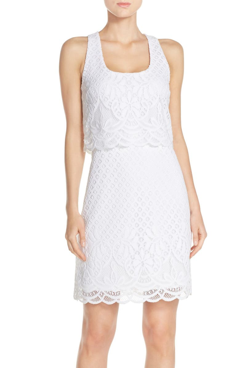 LILLY PULITZER<SUP>®</SUP> Lace Popover Dress, Main, color, 115