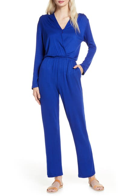 Image of Fraiche By J Long Sleeve Wrap Jumpsuit