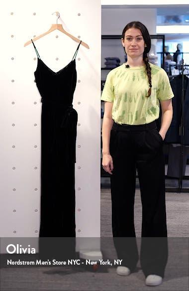 Jackie Velvet Jumpsuit, sales video thumbnail