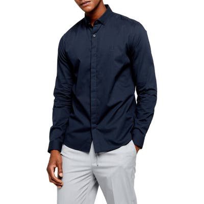 Topman Slim Fit Textured Button-Down Shirt