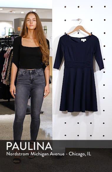 Pleated Waist Fit & Flare Dress, sales video thumbnail