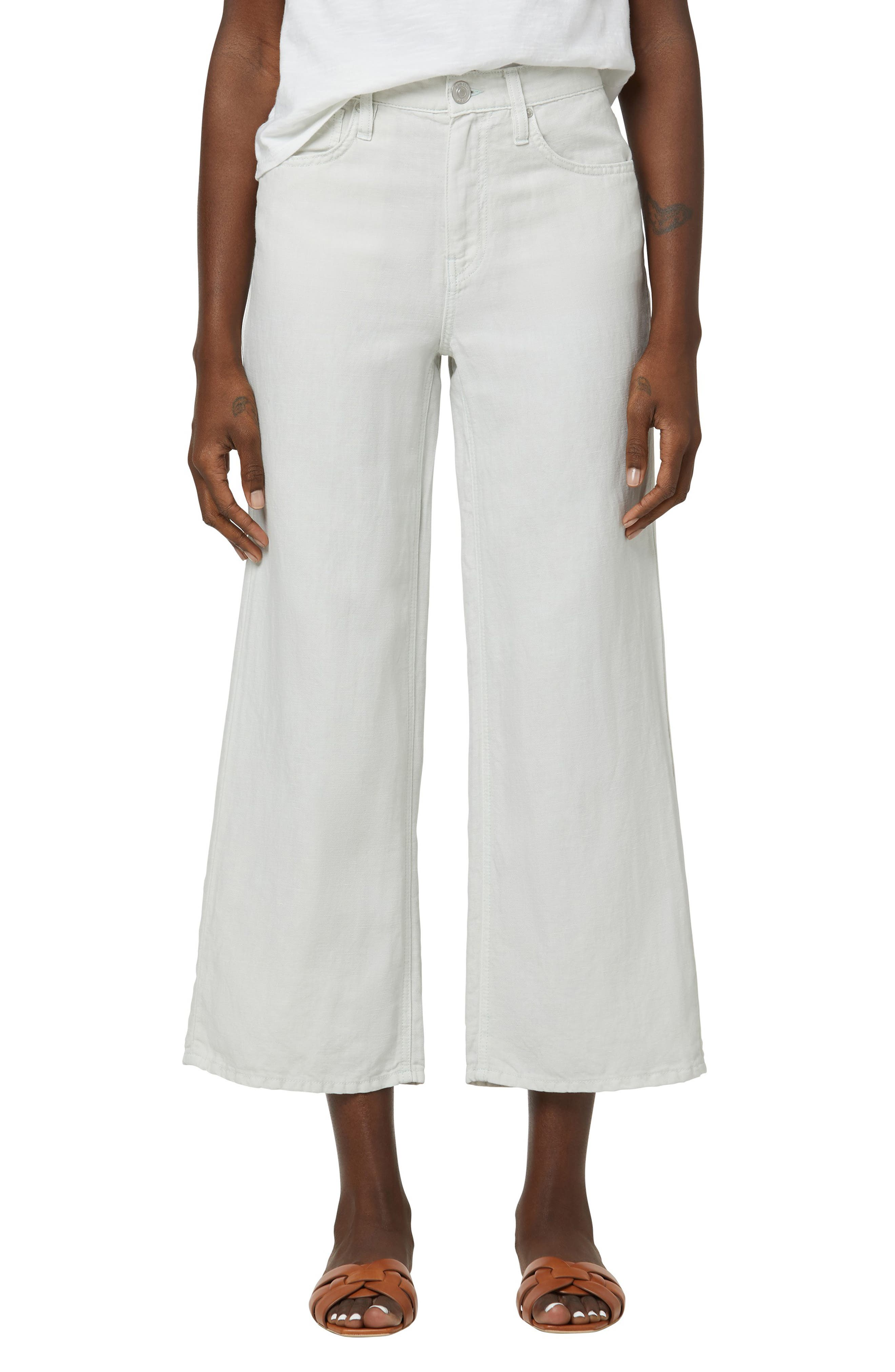 Rosie High Waist Crop Wide Leg Jeans
