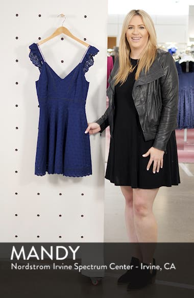 Eyelet You Win Fit & Flare Dress, sales video thumbnail