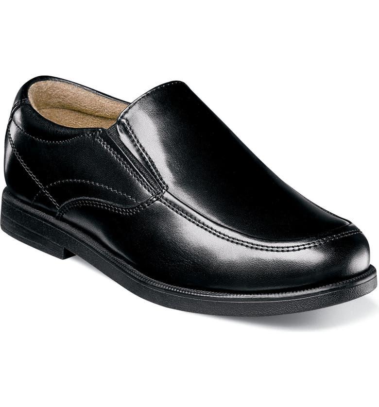 FLORSHEIM Midtown Moc Slip-On, Main, color, BLACK LEATHER