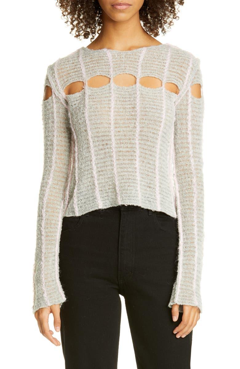 ECKHAUS LATTA Peaking Light Sweater, Main, color, POODLE
