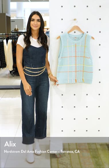 Rosalina Sleeveless Cotton Blend Sweater, sales video thumbnail