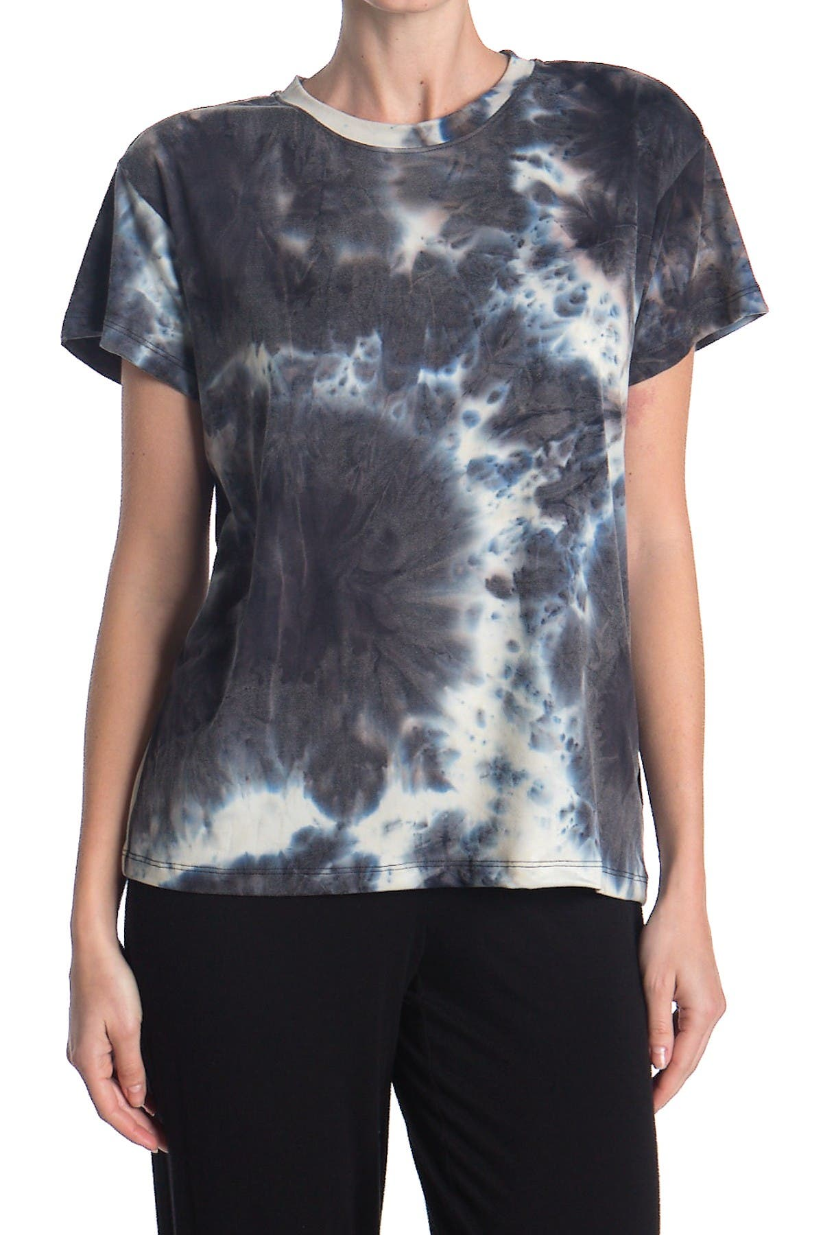 Image of Socialite Short Sleeve Tie Dye Print Boxy T-Shirt