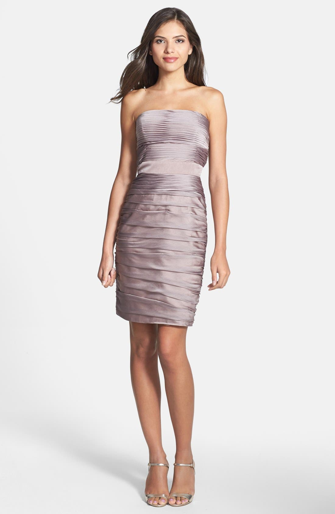 ,                             Ruched Strapless Cationic Chiffon Dress,                             Alternate thumbnail 22, color,                             262
