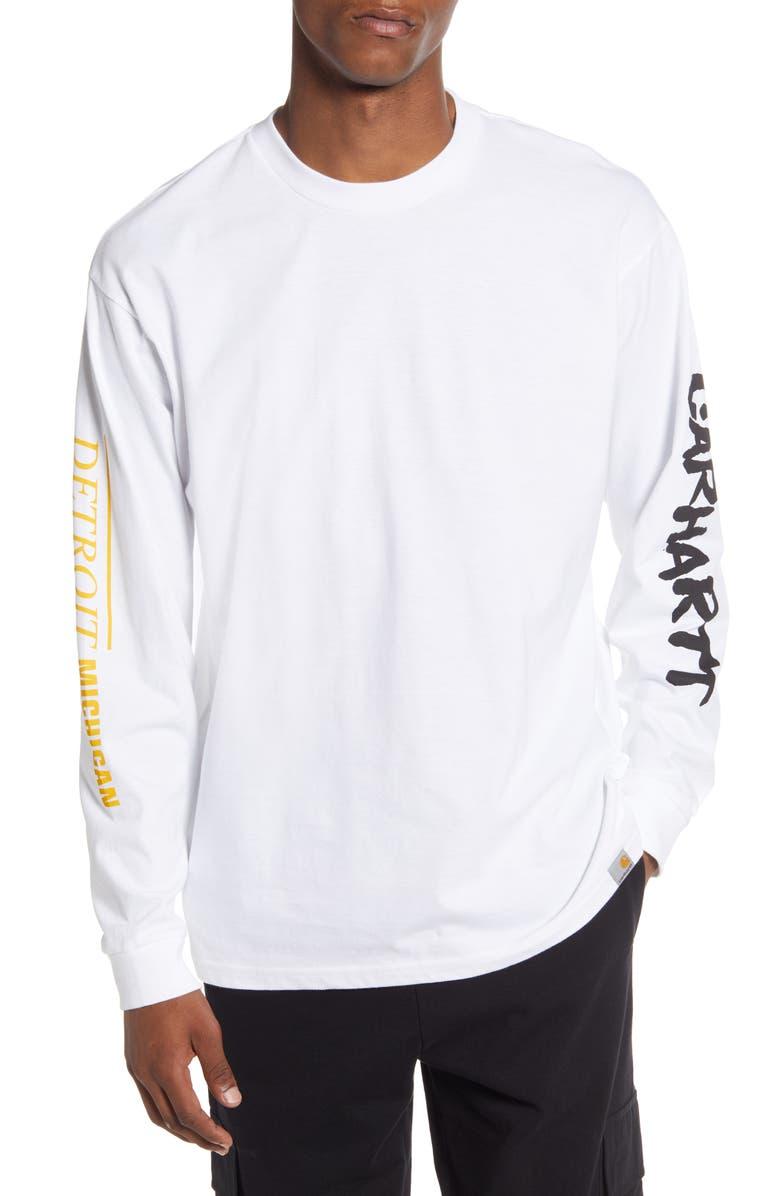 CARHARTT WORK IN PROGRESS Rebirth Long Sleeve T-Shirt, Main, color, WHITE