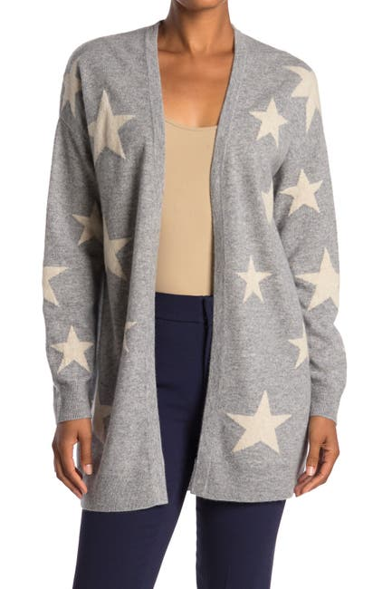 Image of Magaschoni Star Open Front Cashmere Cardigan
