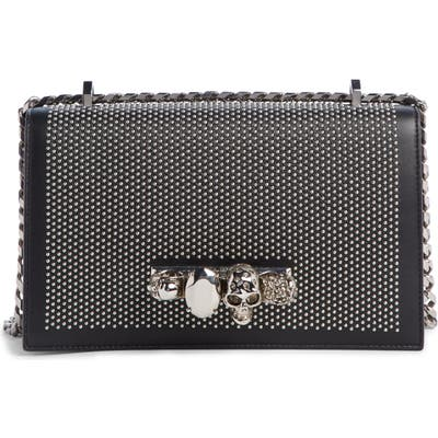 Alexander Mcqueen Studded Leather Crossbody Knuckle Bag - Black