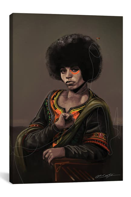 Image of iCanvas BHM Angela Davis by Chuck Styles