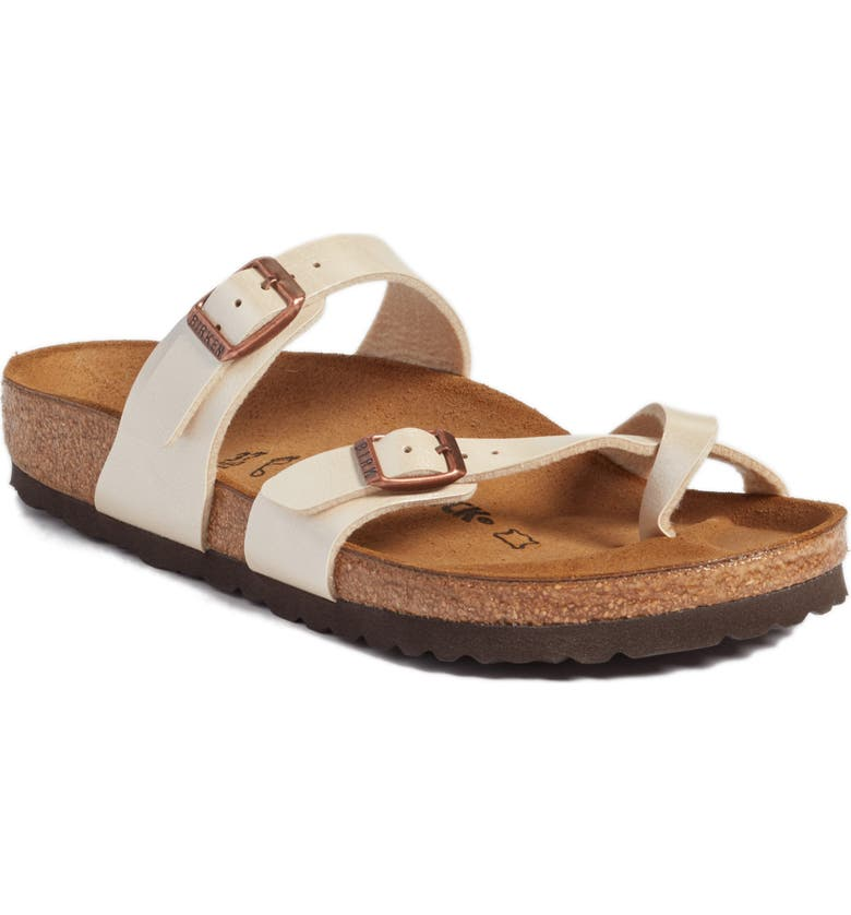 BIRKENSTOCK 'Mayari' Birko-Flor<sup>™</sup> Sandal, Main, color, ANTIQUE LACE