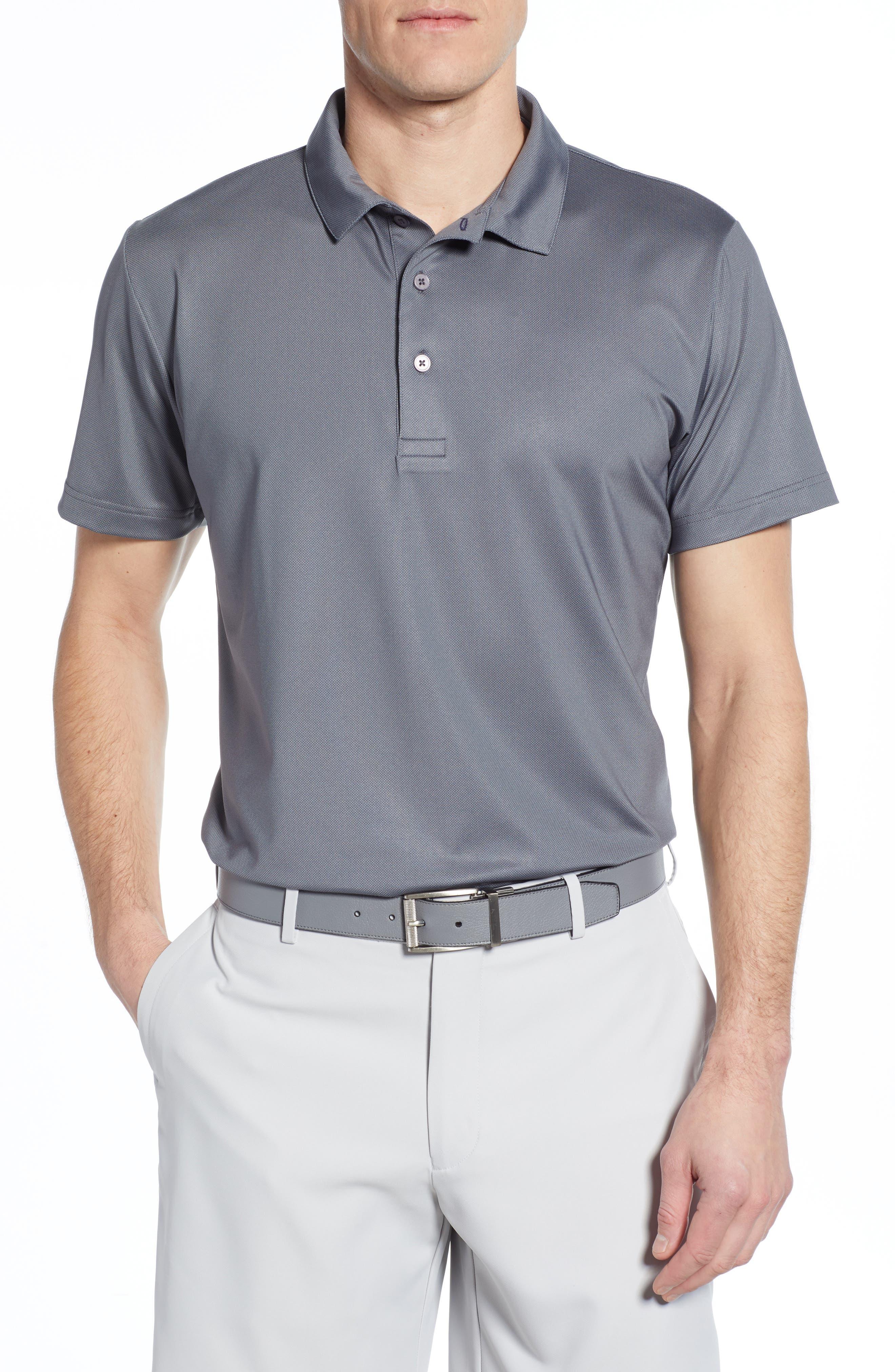 Mizzen+Main Phil Mickelson Regular Fit Performance Golf Polo, Grey