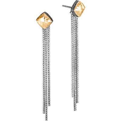 John Hardy Classic Chain 18K & Sterling Silver Tassel Earrings
