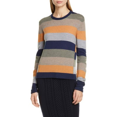 Atm Anthony Thomas Melillo Stripe Merino Wool Sweater