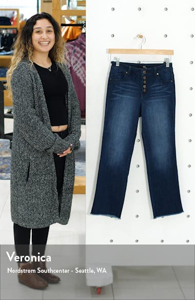Button Front High Waist Crop Flare Jeans, sales video thumbnail