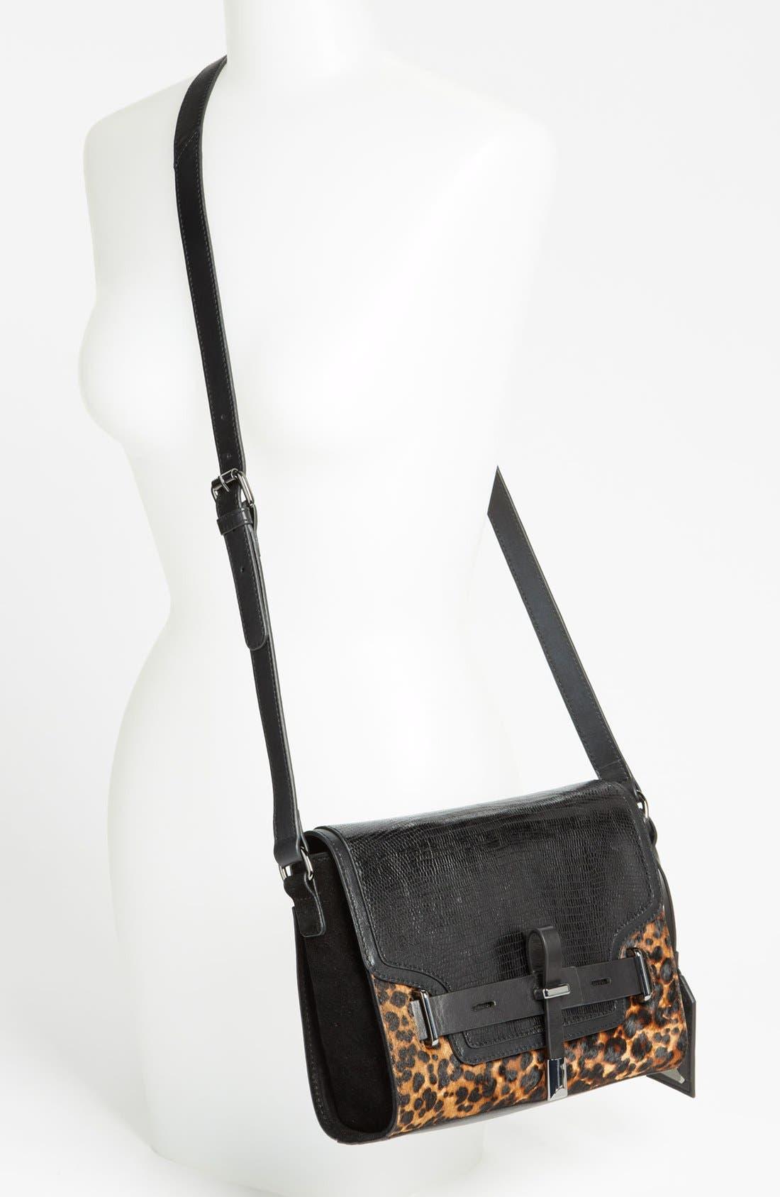 ,                             'Max' Leather Crossbody Bag,                             Alternate thumbnail 8, color,                             019