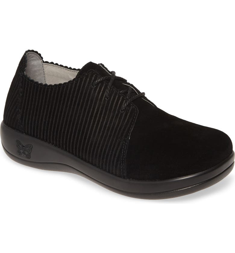 ALEGRIA Pyper Corduroy Derby, Main, color, BLACK CORDUROY/ LEATHER