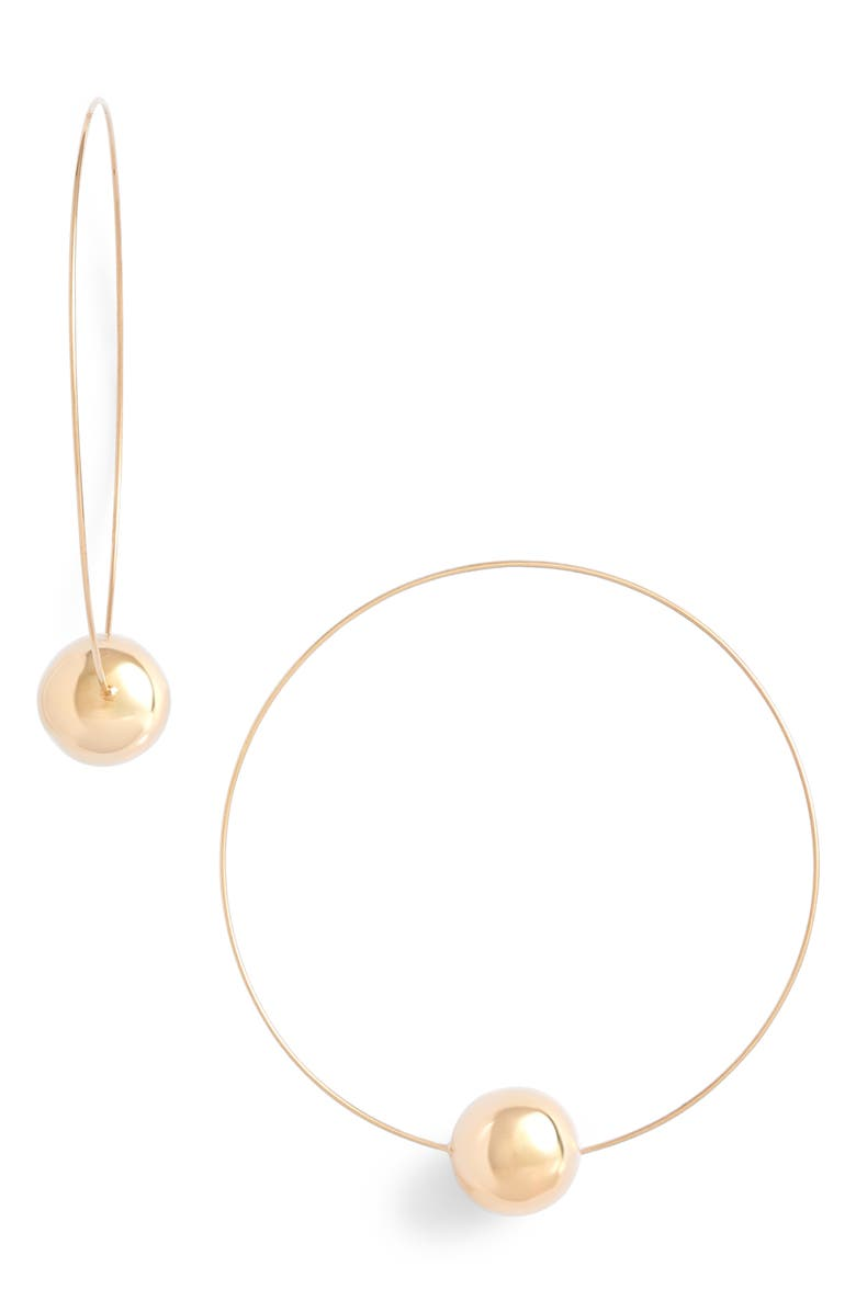 LANA JEWELRY Lana Hollow Ball Magic Wire Continuous Hoop Earrings, Main, color, 710
