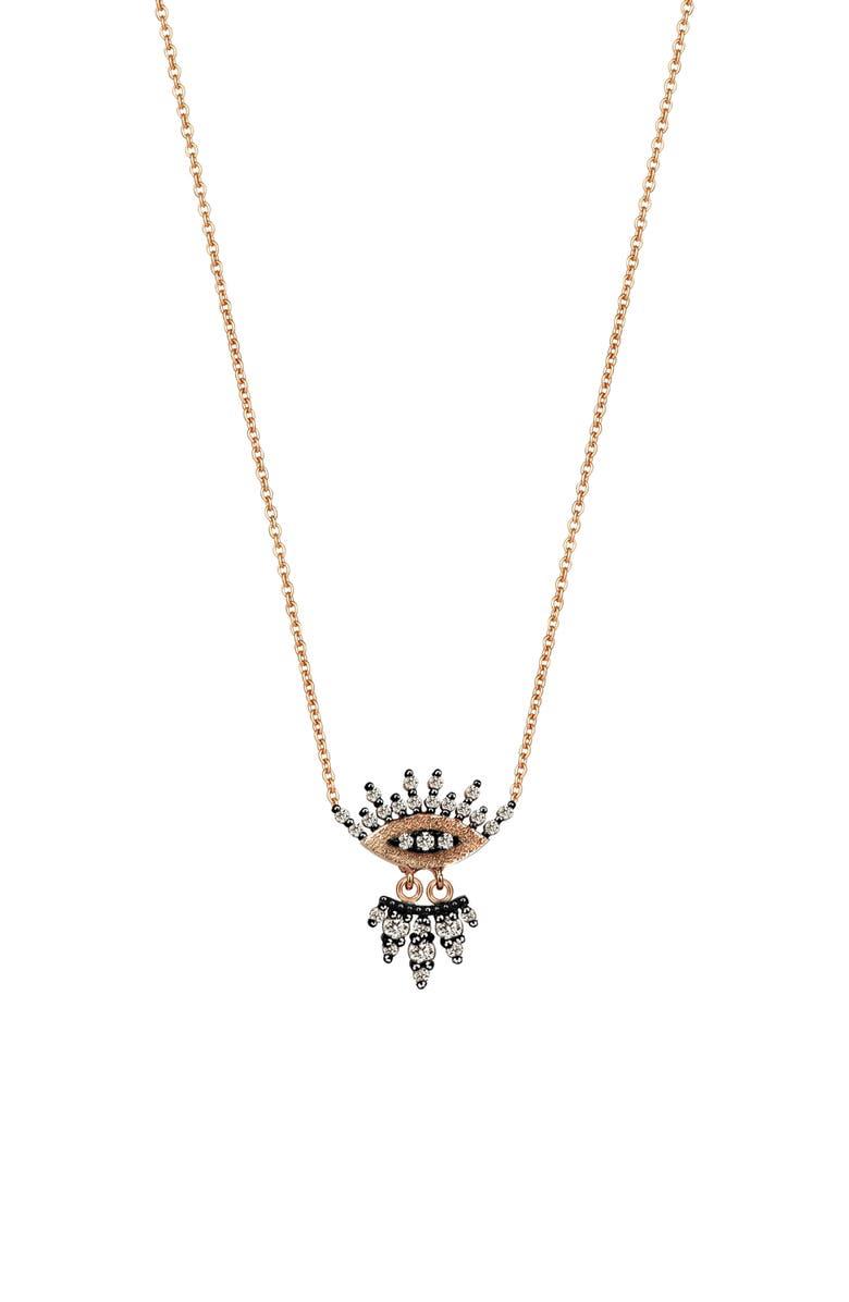 KISMET BY MILKA Diamond Evil Eye Pendant Necklace, Main, color, 712