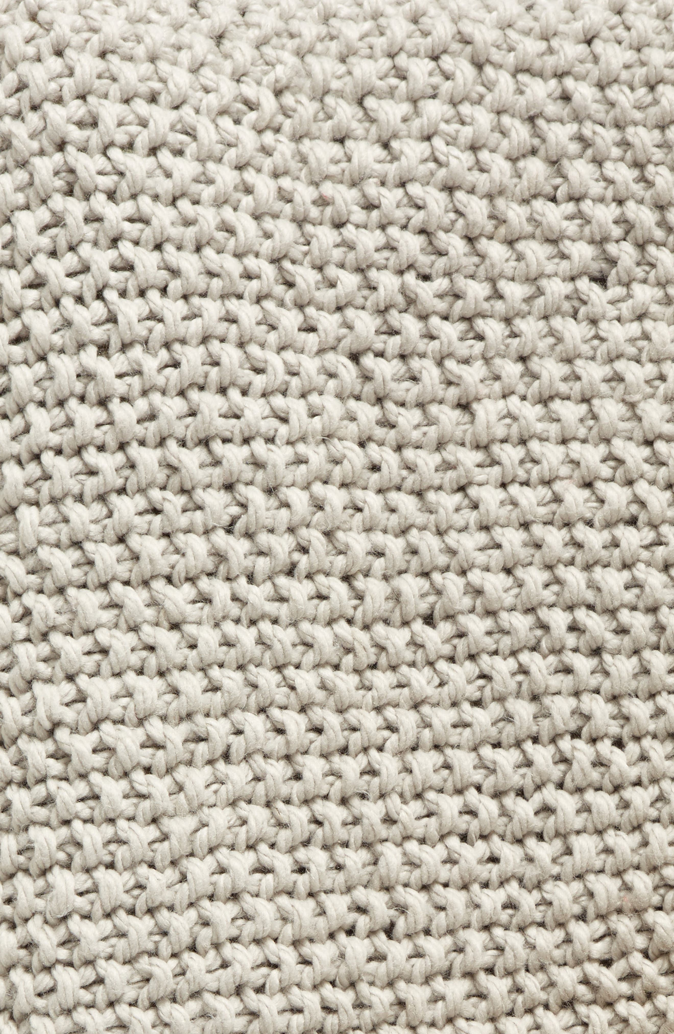 ,                             Faux Fur Border Knit Throw,                             Alternate thumbnail 4, color,                             021