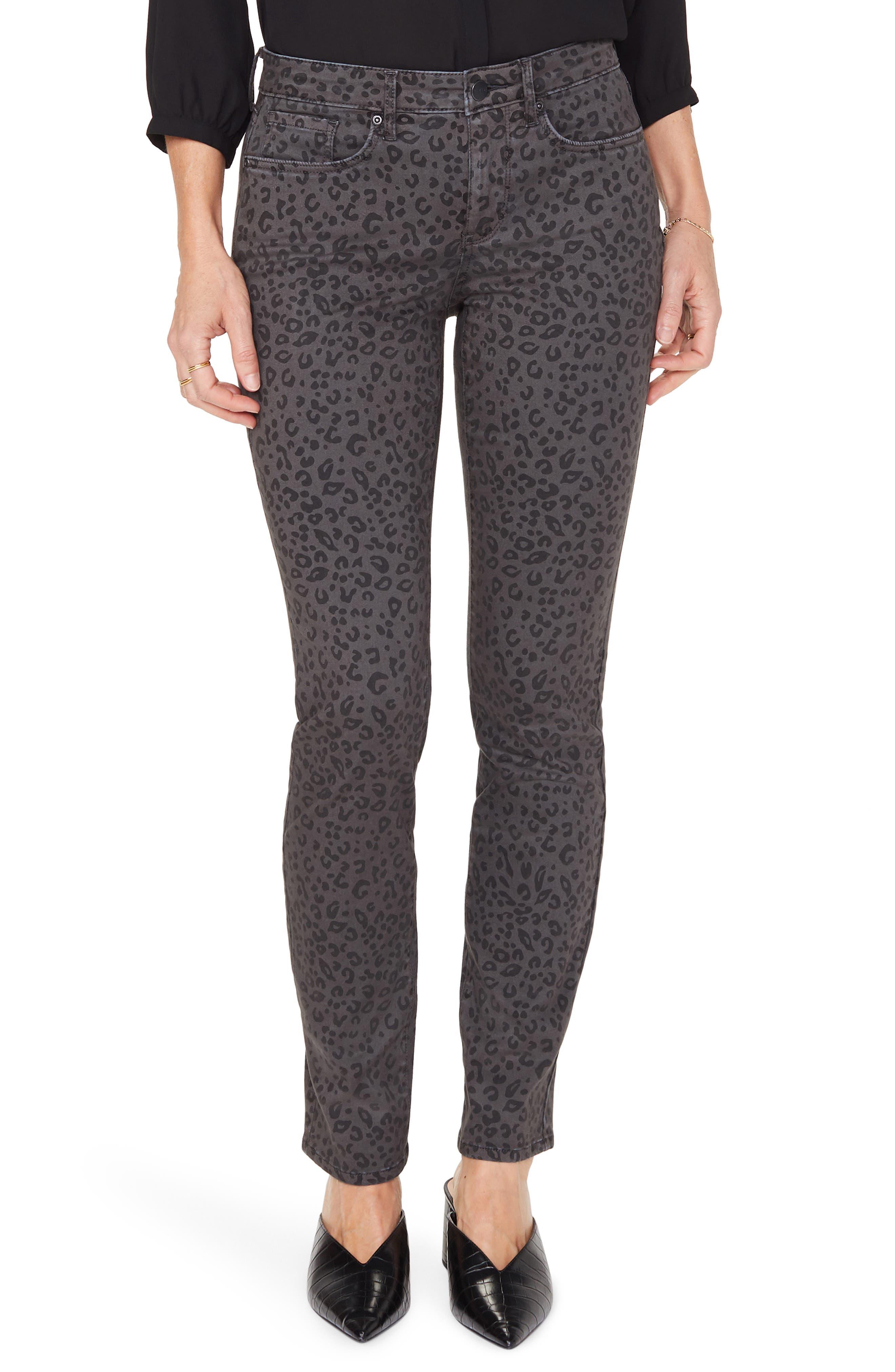 Women's Nydj Alina High Waist Stretch Skinny Jeans,  10 - Grey