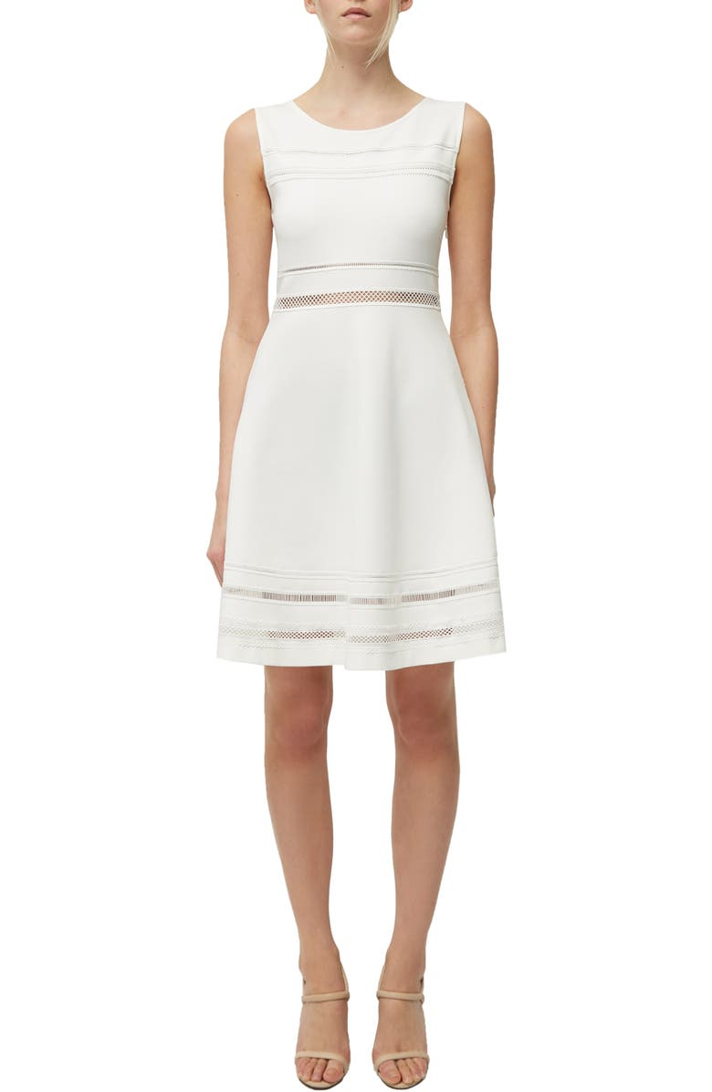 FRENCH CONNECTION Scille Lula Jersey Fit & Flare Dress, Main, color, SUMMER WHITE