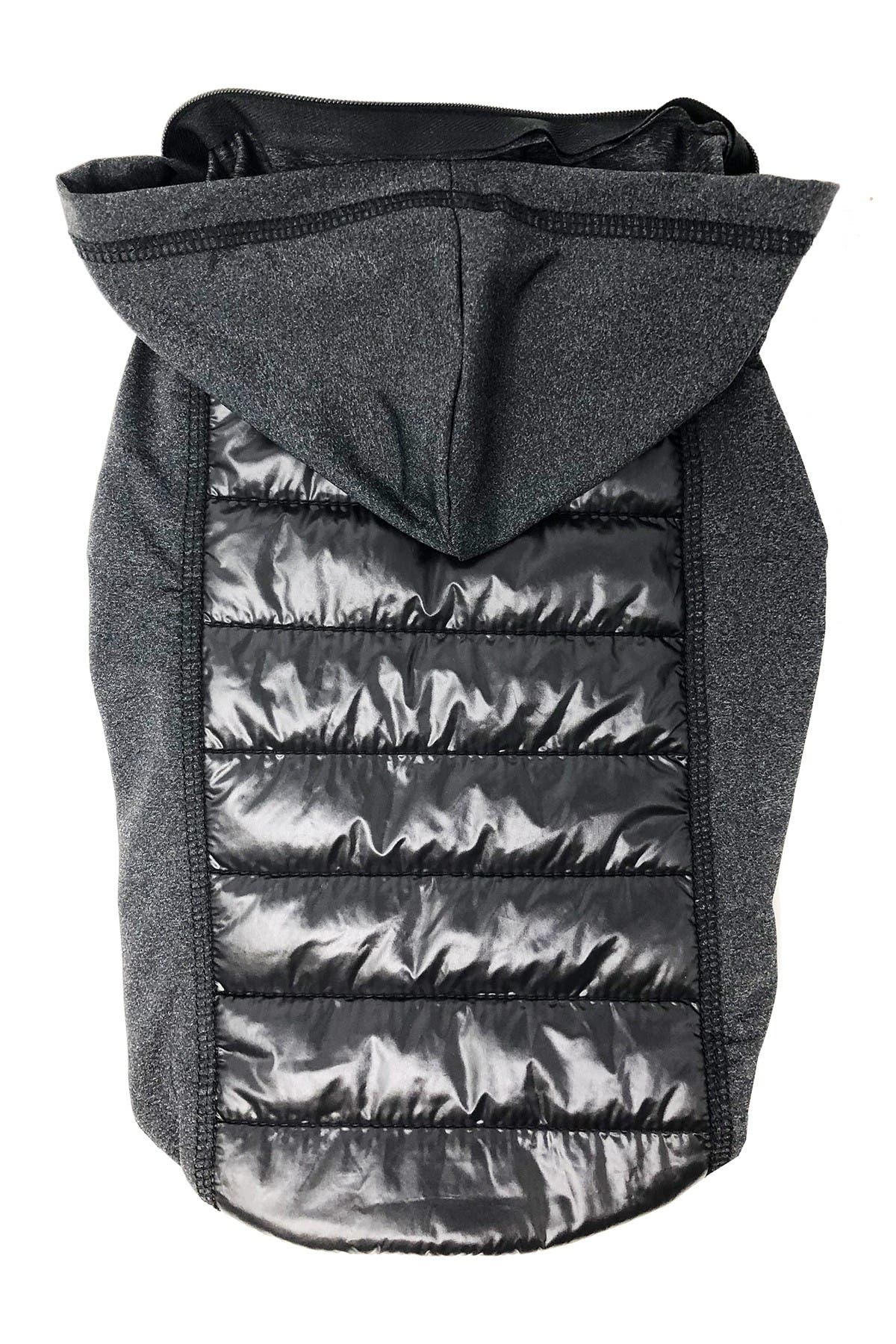 Image of Pet Life 'Apex' Lightweight Hybrid 4-Season Stretch & Quick-Dry Dog Coat w/ Pop out Hood - Medium
