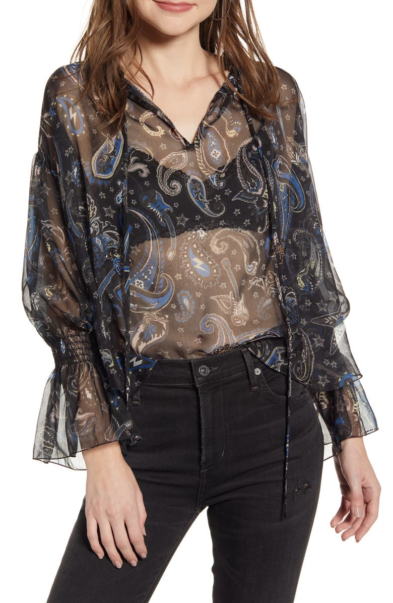 ZADIG & VOLTAIRE Talisa Print Blouse, Main, color, 001