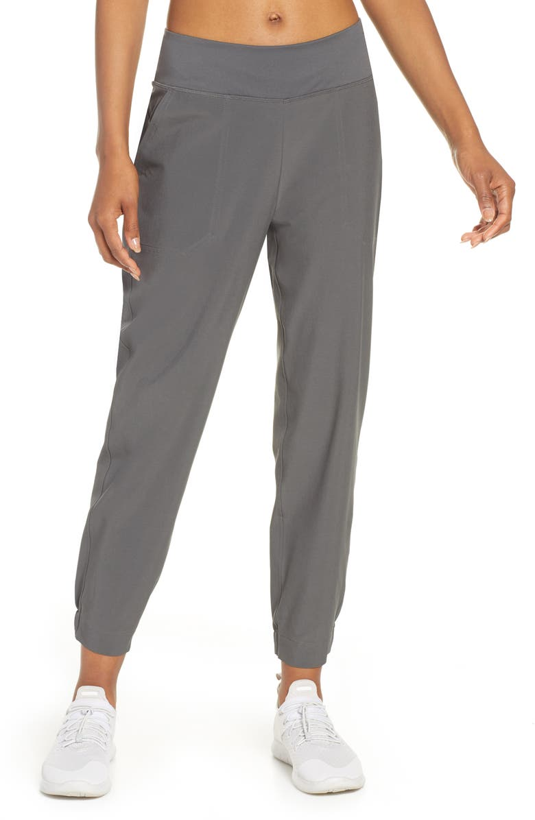 PATAGONIA Happy Hike Studio Pants, Main, color, FORGE GREY
