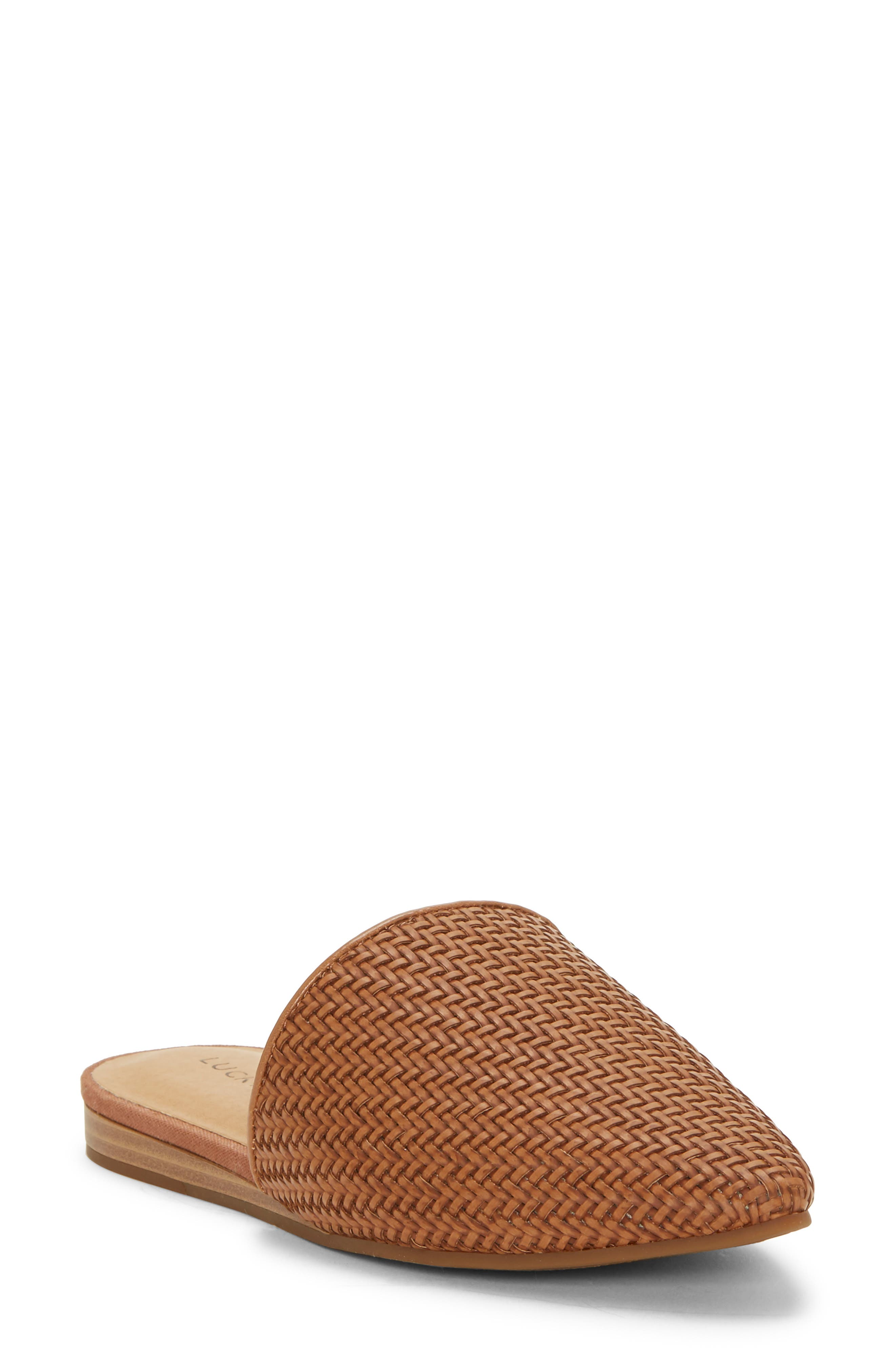 ,                             Bradell Pointy Toe Mule,                             Main thumbnail 1, color,                             UMBER LEATHER