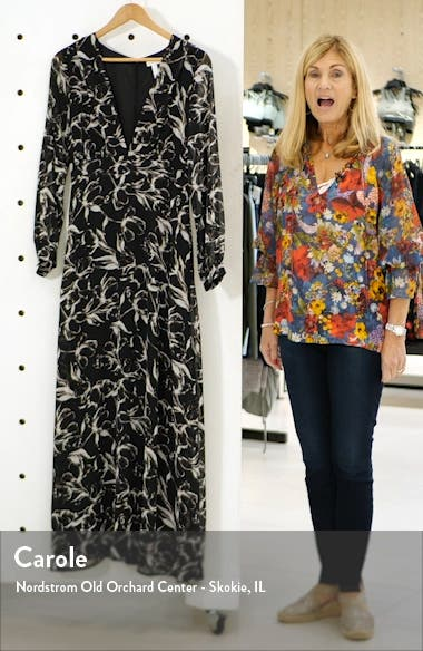 Deep V-Neck Long Sleeve Maxi Dress, sales video thumbnail