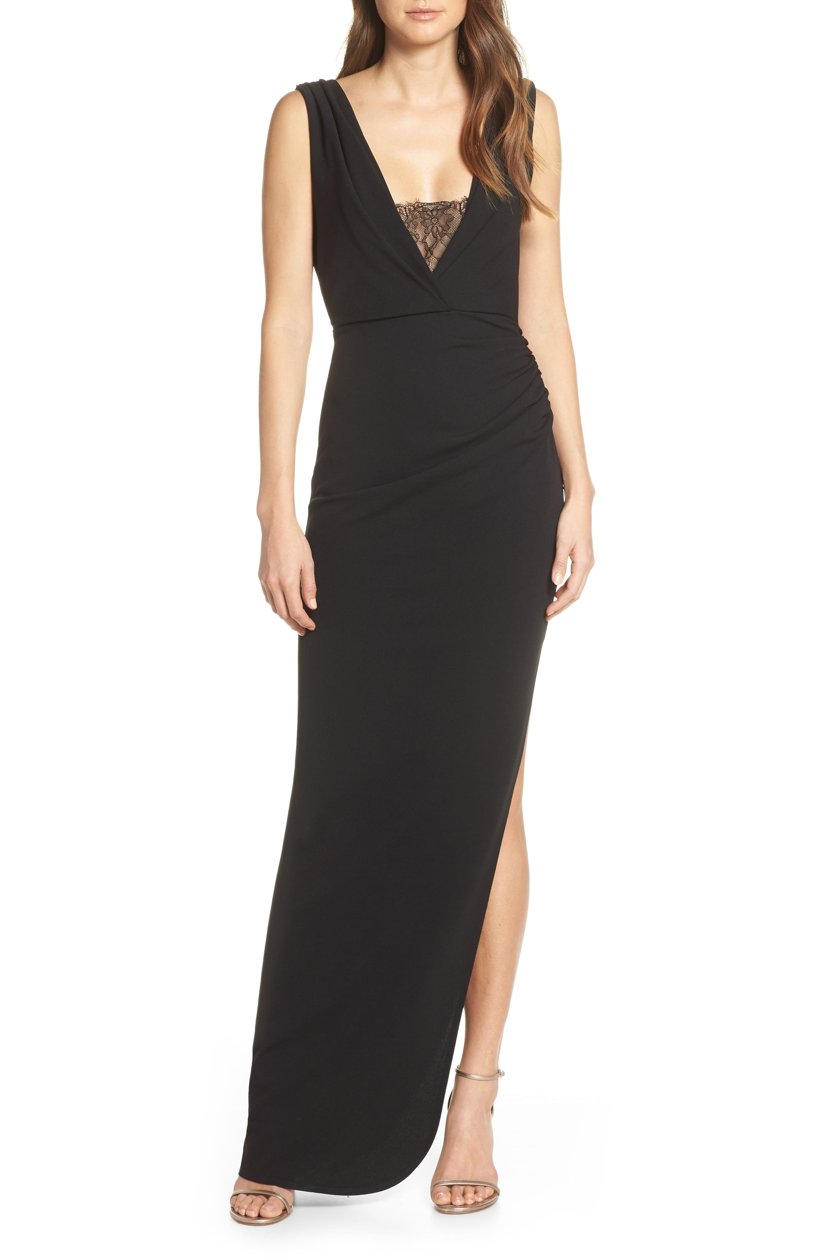 Katie May Saving Face Gown, Black